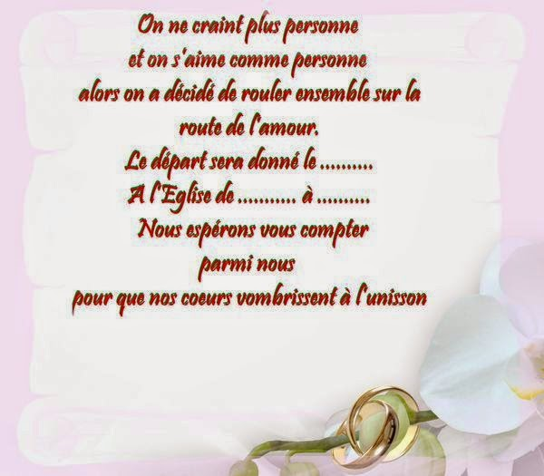 Invitation mariage gratuit en ligne invitation mariage - Texte felicitation mariage original ...