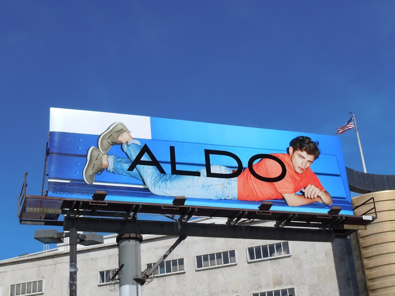 Aldo shoes male model billboard