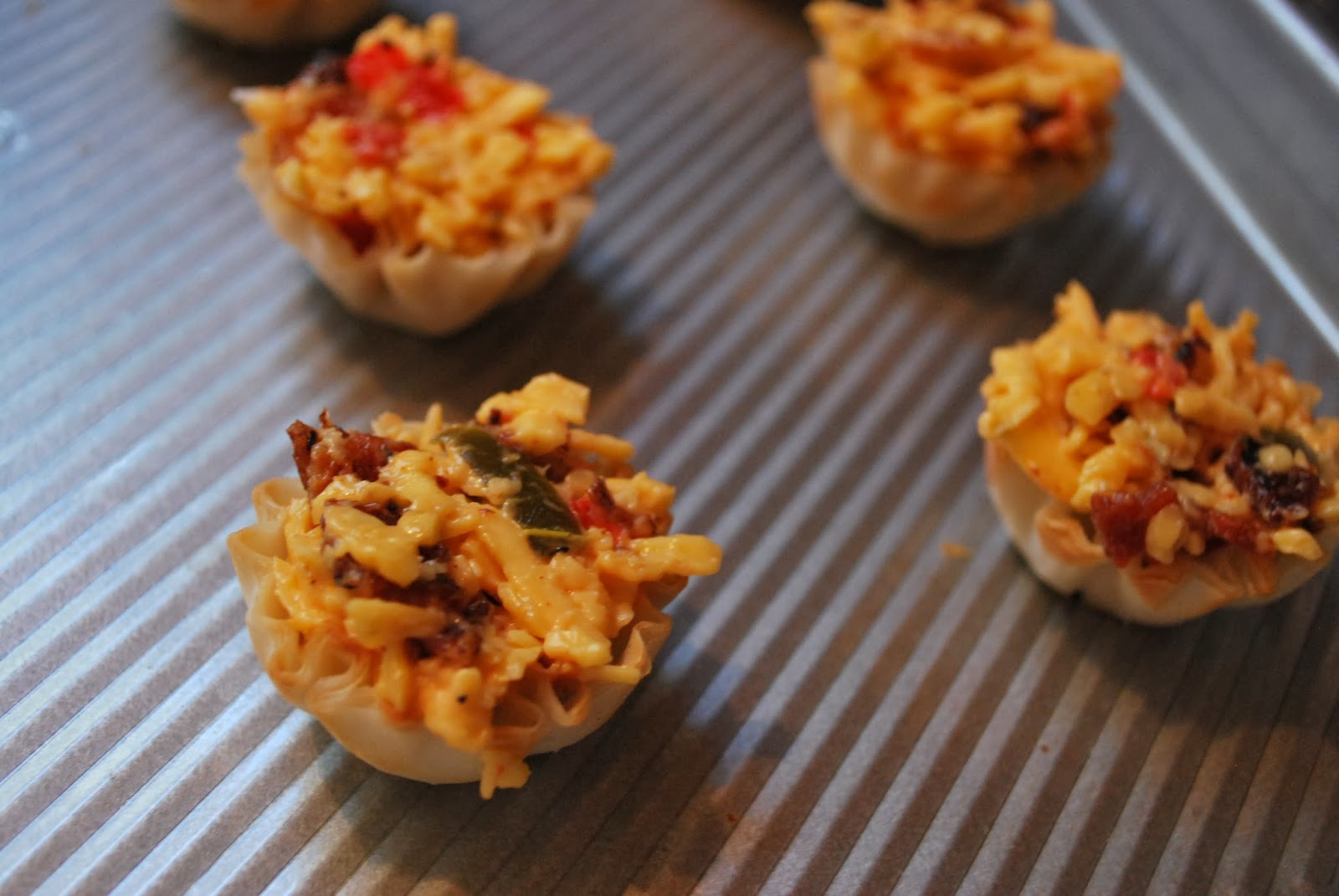 Mini Phyllo Cup Bites: Pimento Cheese & Bacon, Brie & Fruit Jam | Bev...