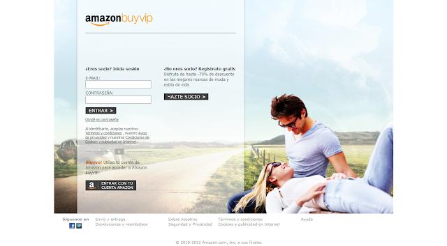 Desde aquí te registras o te logueas para acceder a la tienda Buy Vip.