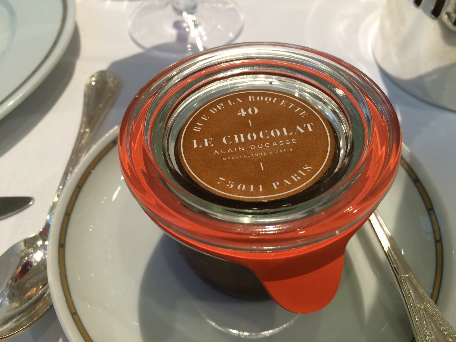 Alain Ducasse chocolate spread at the Haute Couture Brunch, Alain Ducasse au Plaza Athénée, Paris