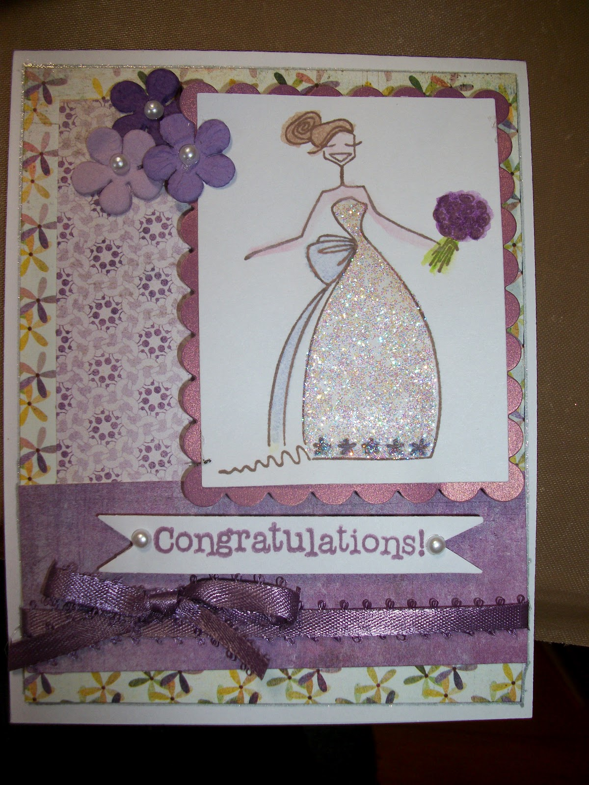 Scrappin And Happy Stamping Bella Bridal Shower Cards