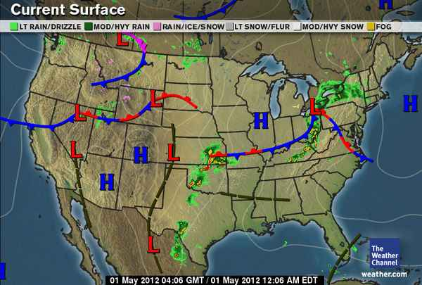 Korys Weather Blog - Us current surface map