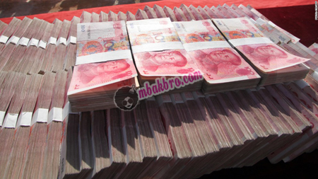 uang jutaan Yuan