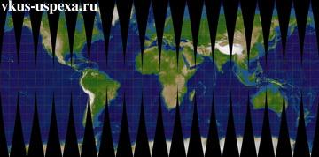 Недостатки меркаторовой карты, Искажения и неточности географических карт