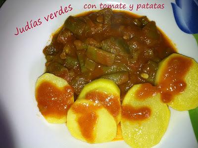 Cocinar con mycook jud as verdes con tomate y patatas for Cocinar judias verdes de bote