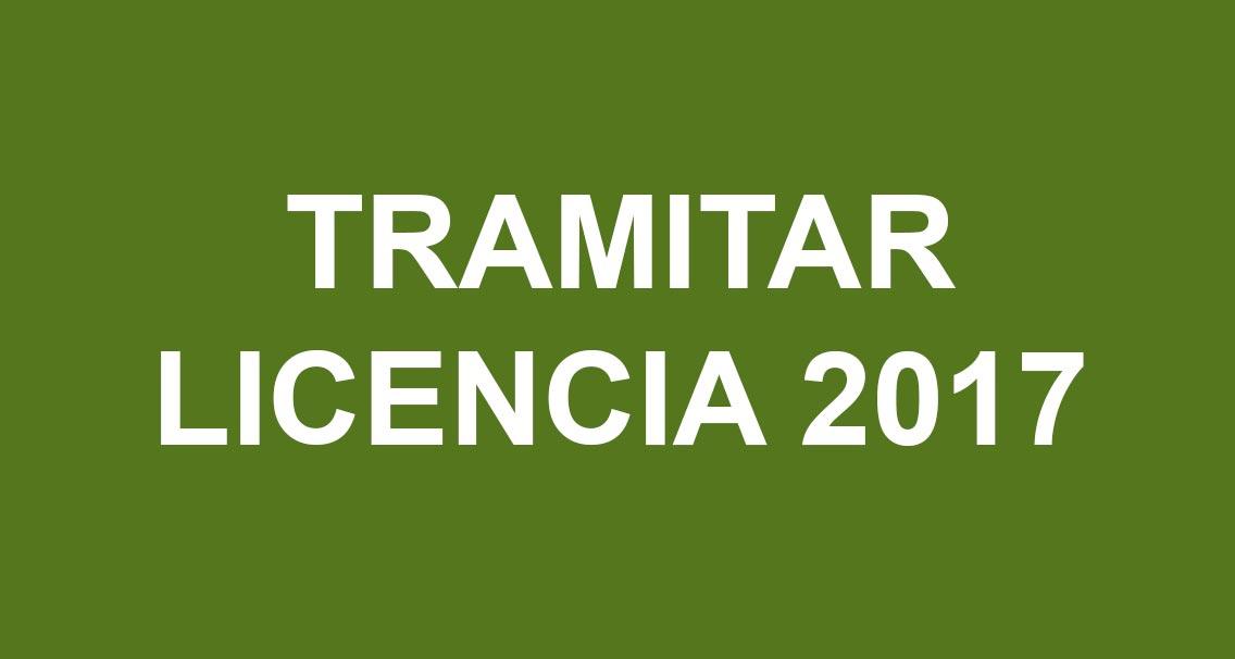 Tramitar LICENCIA-2017
