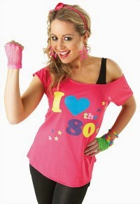 80s Fancy Dress T-shirt for ladies
