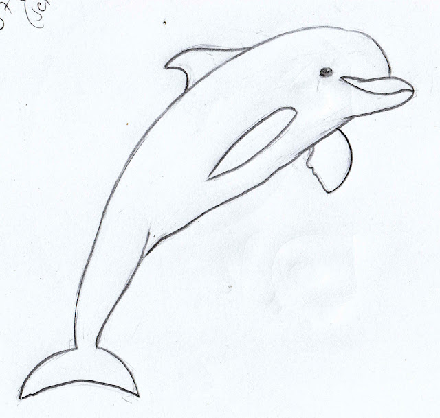 Weekly : Doodles and tuts: How to draw a Dolphin tutorial