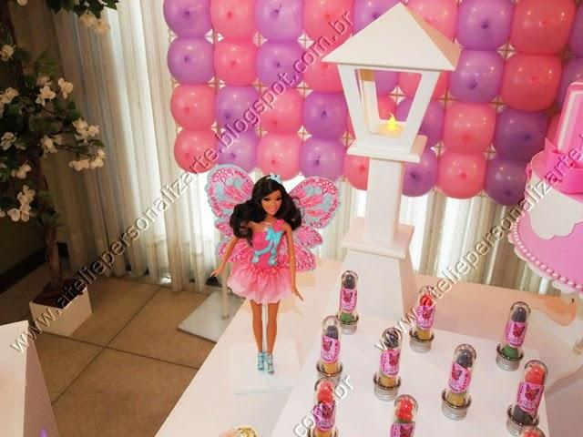 decoracao de aniversário provençal barbie butterfly