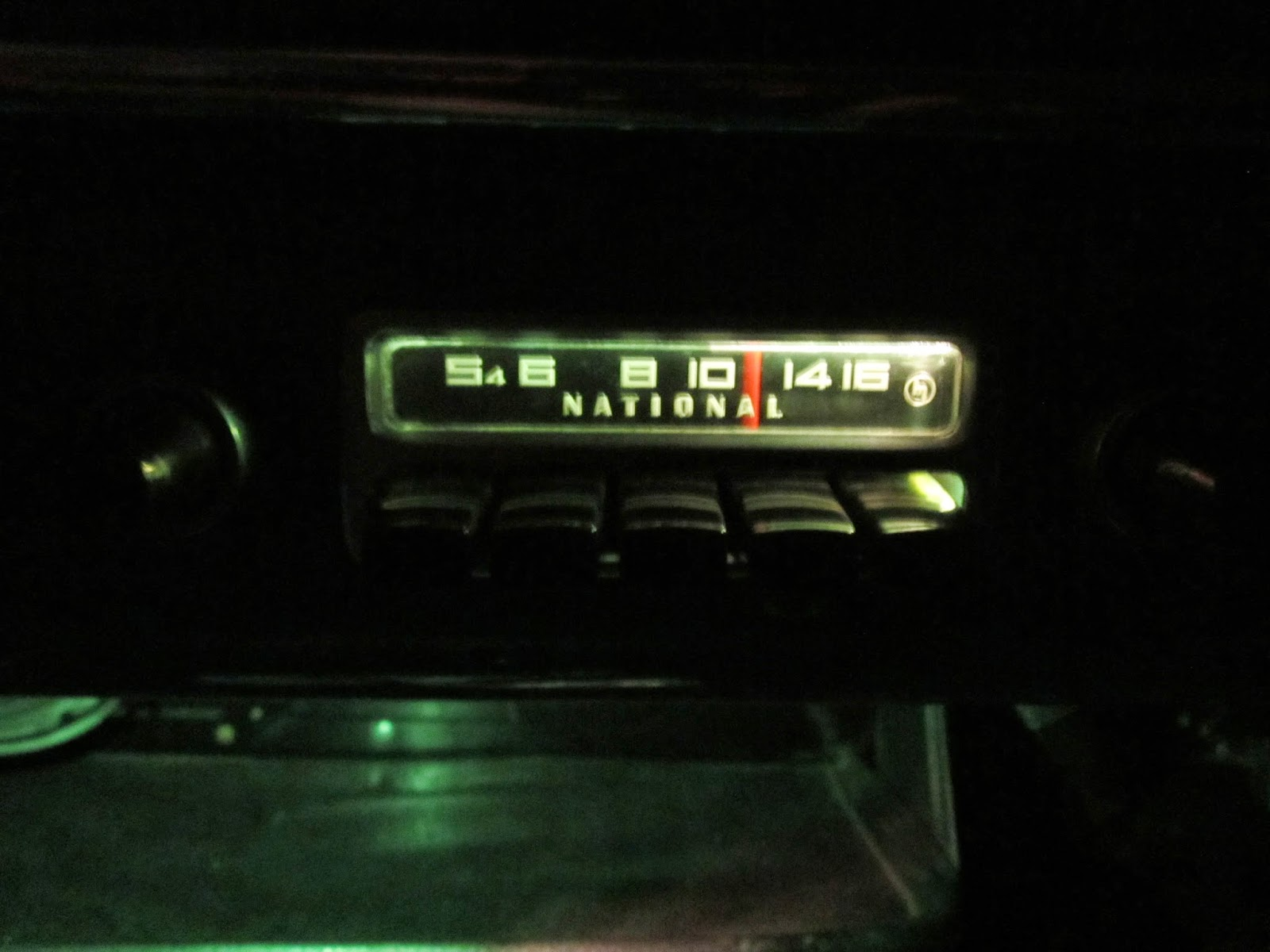 Broken old school radio now in use as an extra dashboard light