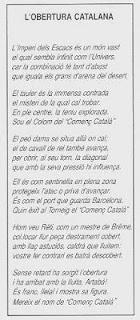 Traducción al catalán del poema Le Debut Catalan