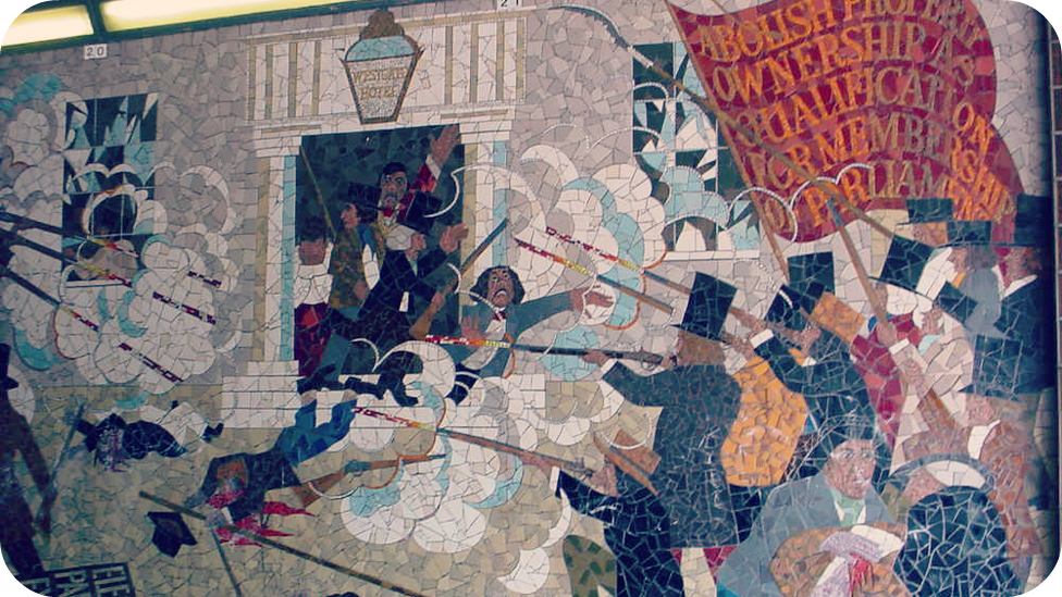 Babi a fi the great reform act for Chartist mural newport
