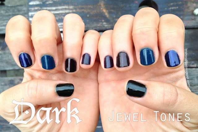 Dark Jewel Tone Nails | imshayshay.blogspot.com