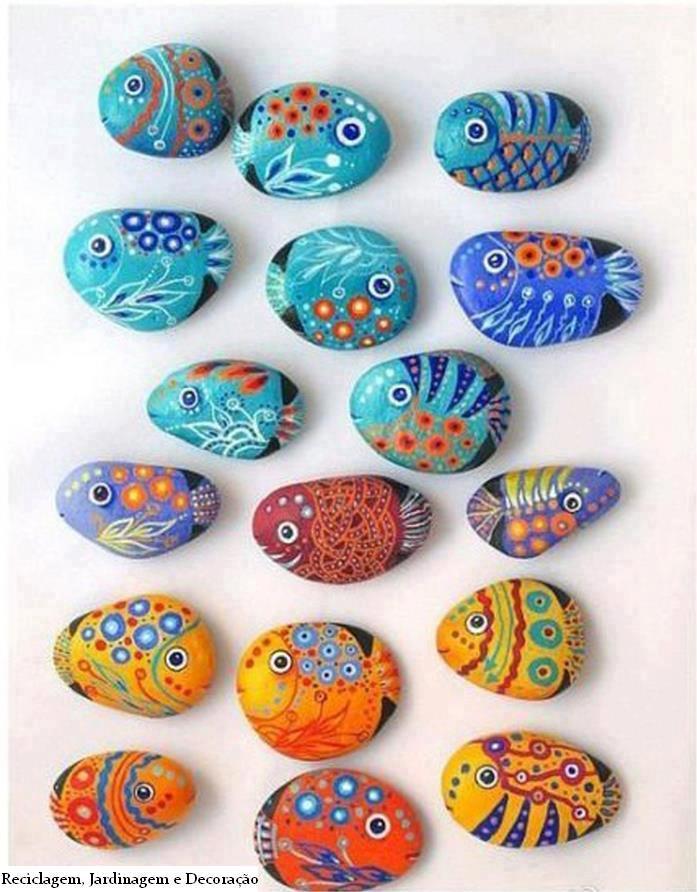 Creatividas e ideas para todo como pintar piedras - Piedras de rio pintadas ...