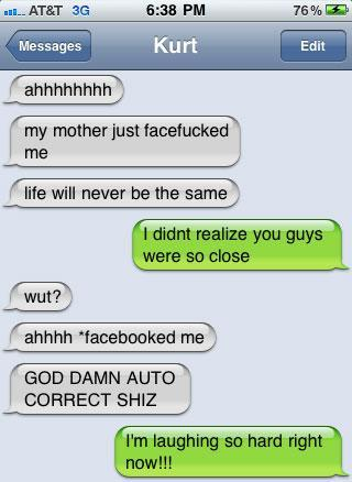 Perverted text messages