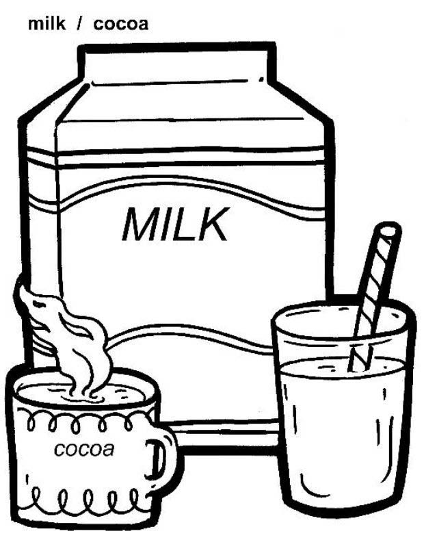 dairy coloring pages - photo#12