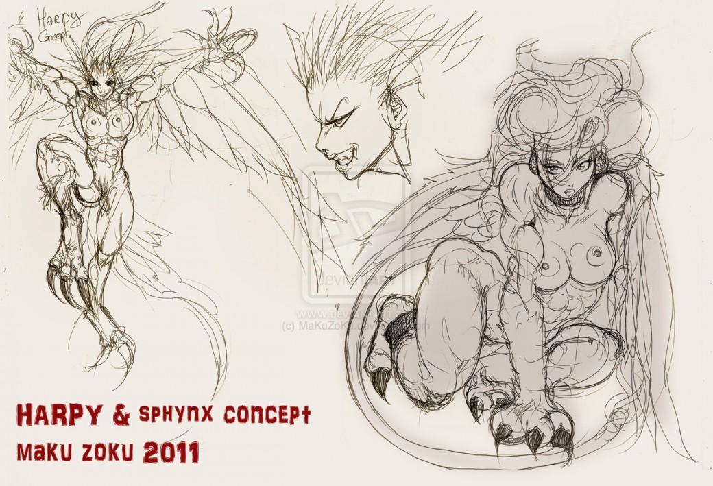 Harpy and SPHYNX Concept por MaKuZoKu