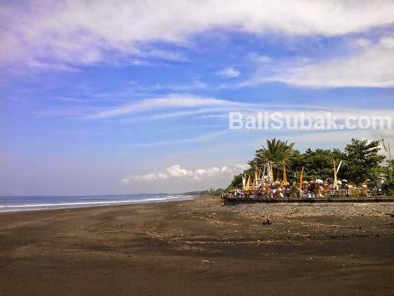 Melasti ritual in Rambutsiwi beach, Jembrana Bali
