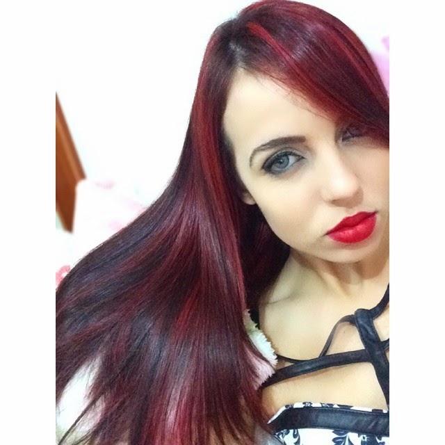 red hair, mechas vermelhas, luzes vermelha