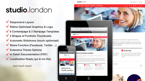 Studio London: Responsive Portfolio WordPress Theme