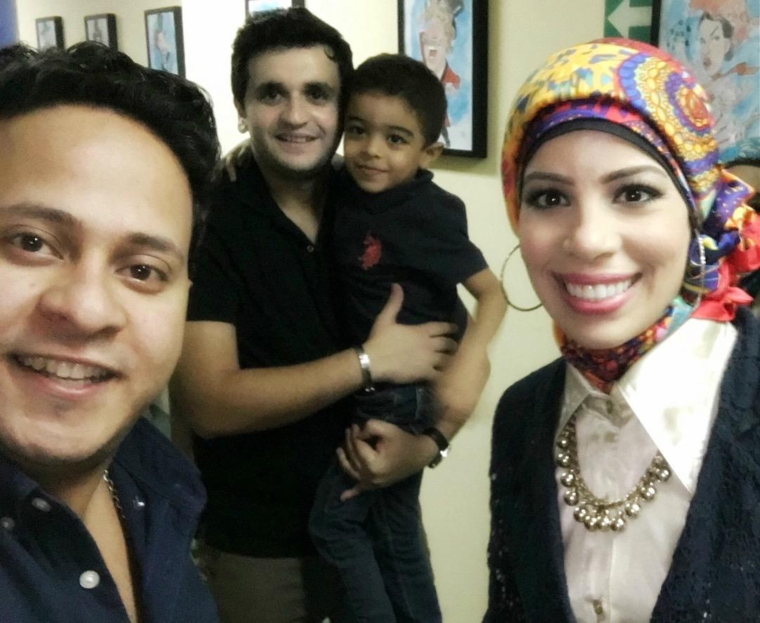 مع نجوم مسرح مصر الفنان مصطفى خاطر والفنان كريم عفيفى - سبتمبر 2016