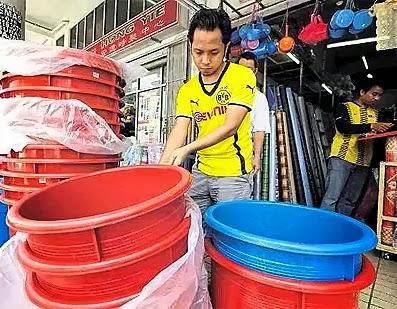 Dapatkan Bekas Tong Air Sebelum Catuan
