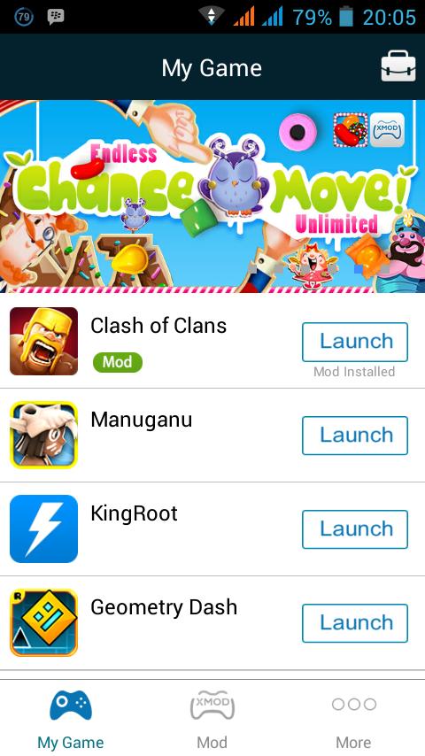 Klik Clash Of Clans nya, tetapi jangan diklik Launch terlebih dahulu ...