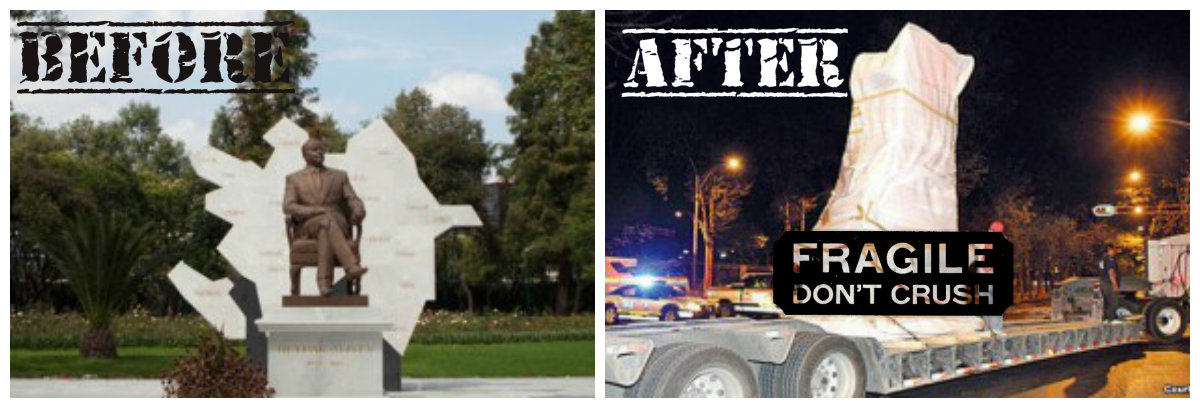 Heydar Aliyev Statue Removed from Mexico City Central Park