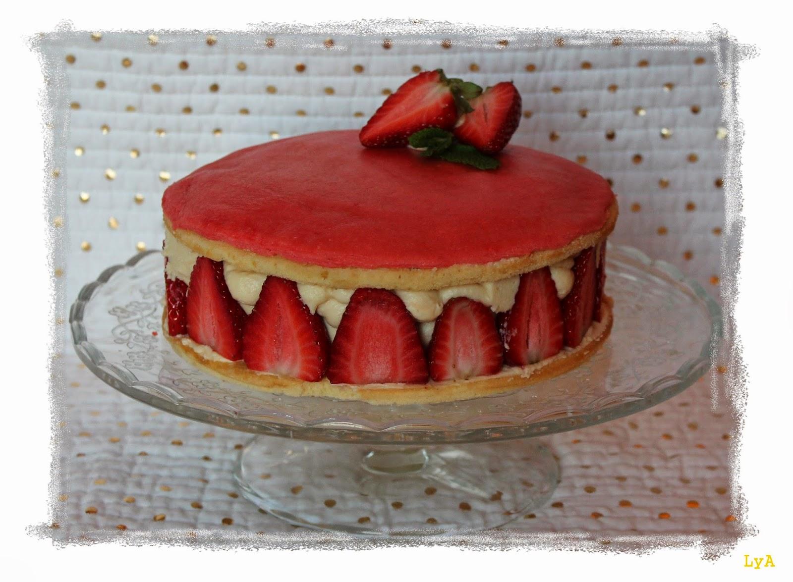 Cocinando... un abril encantado: Tarta Frasier... deliciosa tarta de ...