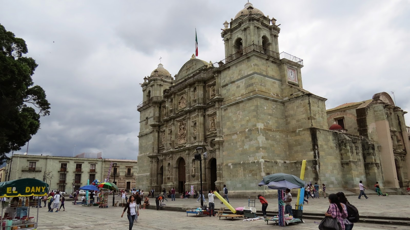 The Cathedral in Oaxaca City, Oaxaca, Mexico