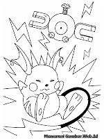 Lembar Mewarnai Gambar Pikachu