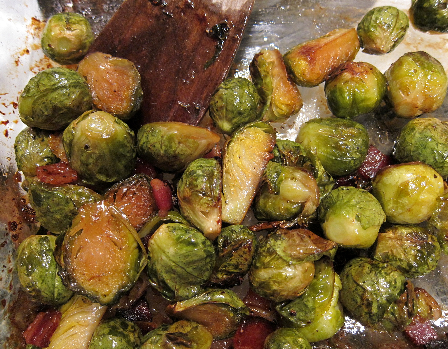 ... call for corn: roasted brussels sprouts with bacon and maple syrup