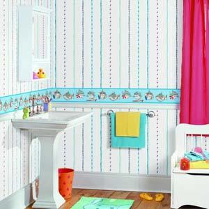 Emes engineering resources percuma merancang penampilan for Wallpaper borders bathroom ideas