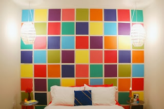 kids bedrooms wall coverings - scrapbook paper