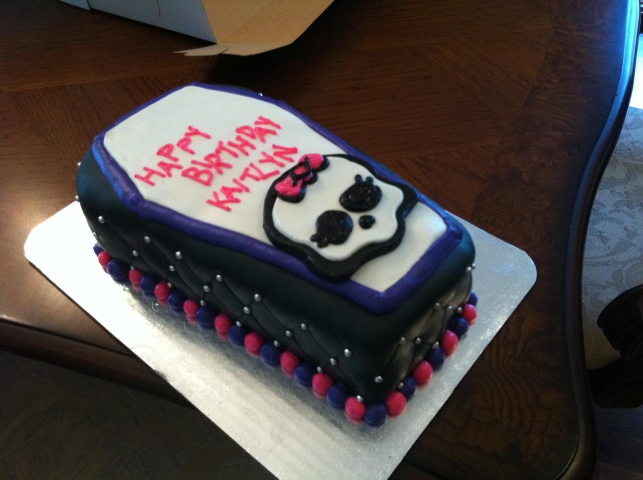 Monster High Coffin Cake Pan