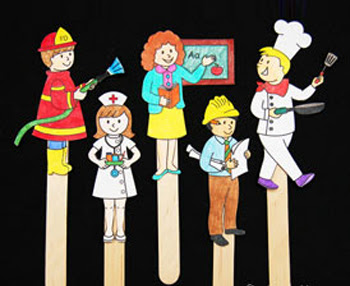 Community Helper Stick Puppets