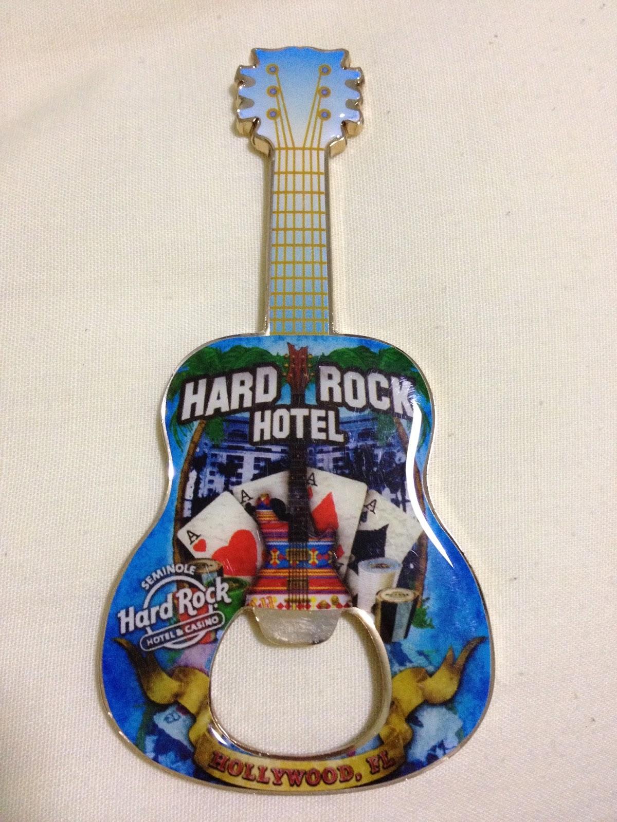 Hard Rock Cafe Bottle Openers Magnet Hollywood Fl