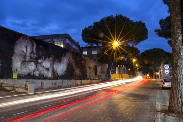 """Piedad"" New Street Art Piece By Borondo On the streets of Rome, Italy. 7"
