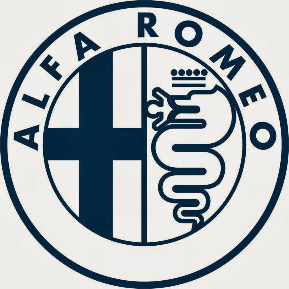 Alfa romeo badge black and white 12