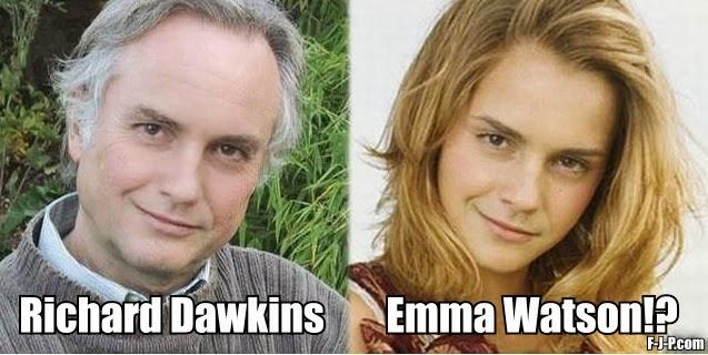 Funny Richard Dawkins Emma Watson Meme Image