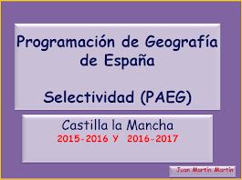 Programación de Geografía para Selectividad (PAEG).           2016-2017.
