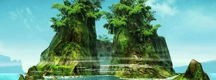 Image de couverture pour facebook paysage fantastique