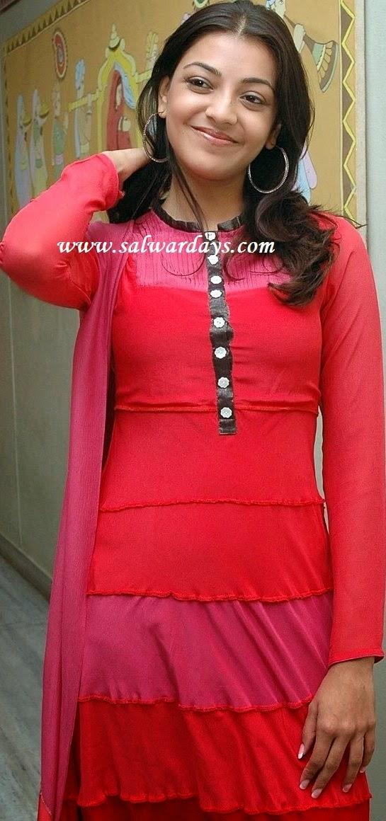 Indian Salwars and Indian Fashion: kajal agarwal in red ...
