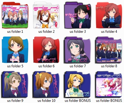 Love Live! Anime folder pack icon