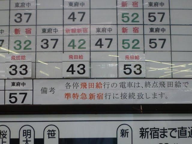 京王電鉄京王線ダービー臨時 飛田給行き 10-000形200F幕車