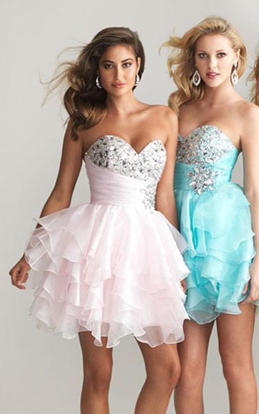 White Homecoming dresses