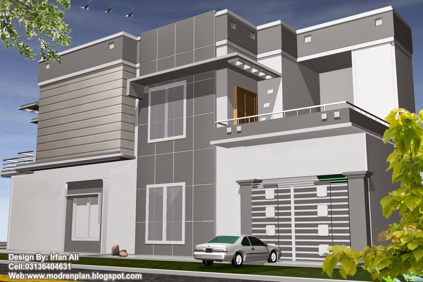 House Front Elevation With Gate : Beautifull house front elevation