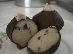 Chocolate chip cookie dough truffle