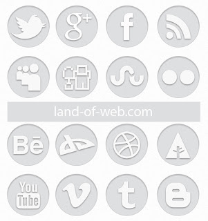 free simple social icons grey